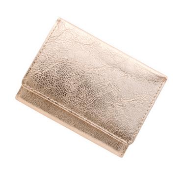 極小財布 メタリックピンク ヤギ革